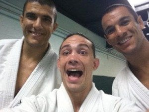 Rener Gracie, Ty Gay and Ryron Gracie at the Gracie Academy in Torrance. Photo courtesy of Ty Gay